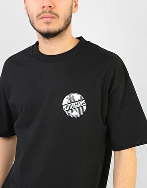 Butter Goods Axis Worldwide Logo T-Shirt - Black