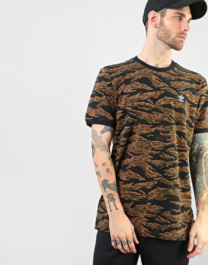 Adidas Camouflage BB T-Shirt - Camo Print/Black/Collegiate Orange