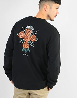 Santa Cruz Dressen Rose Cross Crew - Black