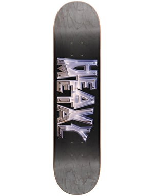 Darkstar x Heavy Metal Chrome Skateboard Deck - 8
