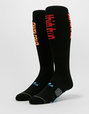 ThirtyTwo x Santa Cruz Screaming Hand Snowboard Socks - Black