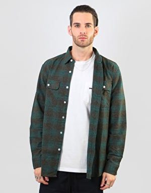 Brixton Bowery L/S Flannel Shirt - Ocean