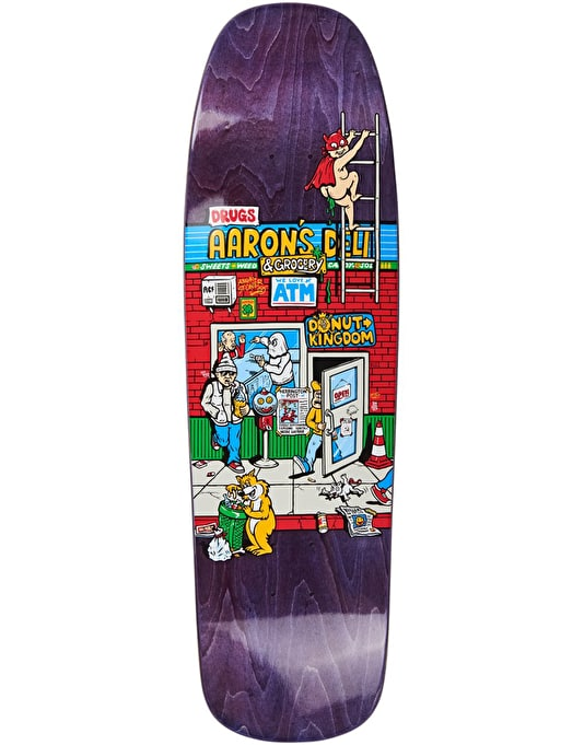 Polar Herrington Aaron's Deli Skateboard Deck - 1992 Shape 9.25""