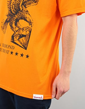 Diamond We Trust T-Shirt - Orange