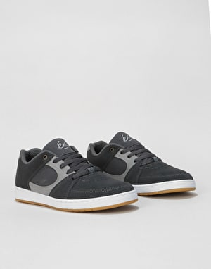 éS Accel Slim Skate Shoes - Dark Grey/Grey