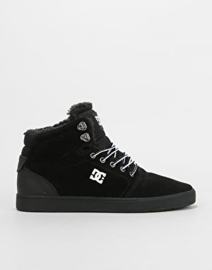 DC Crisis High High WNT Skate Shoes - Black/White/Black
