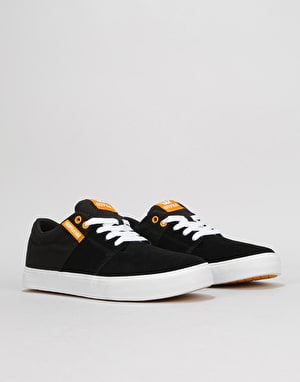 Supra Stacks Vulc II Skate Shoes - Black/Golden/White