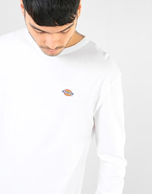 Dickies Long Sleeve Round Rock T-Shirt - White