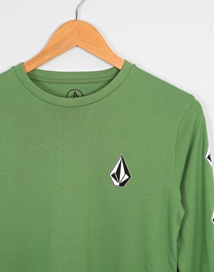 Volcom Deadly Stone LS Boys T-Shirt - Dark Kelly