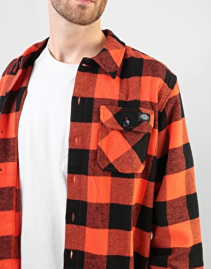 Dickies Long Sleeve Sacramento Shirt - Orange