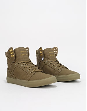 Supra Skytop Skate Shoes - Olive