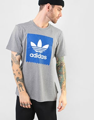 Adidas BB Solid T-Shirt - Core Heather/Collegiate Royal