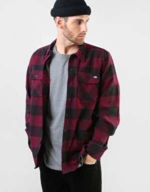 Dickies Long Sleeve Sacramento Shirt - Maroon