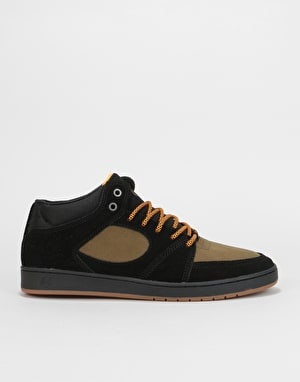 éS Accel Slim Mid Skate Shoes - Black/Brown