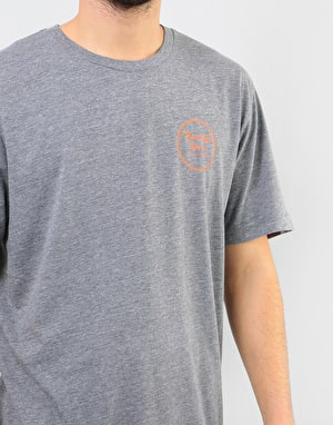 Brixton Wheeler II Premium T-Shirt - Heather Grey/Orange
