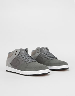 éS Accel Slim Mid Skate Shoes - Dark Grey/Grey