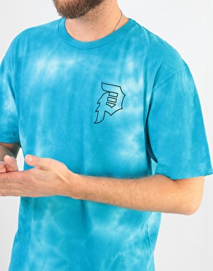 Primitive x Rick & Morty Morty Outline Tie-Dye T-Shirt - Aqua Tie Dye