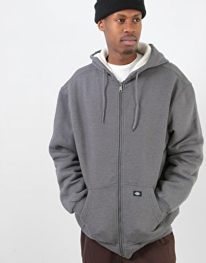 Dickies Sherpa Lined Fleece Zip Hoodie - Dark Heather