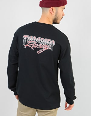 Thrasher Racing L/S T-Shirt - Black