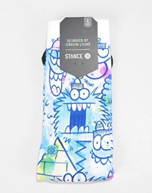 Stance x Kevin Lyons Watercolor Classic Crew Socks - Blue