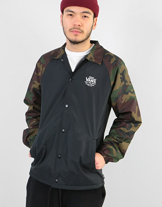 Vans Torrey Coach Jacket Black Camo Coach Jackets Mens