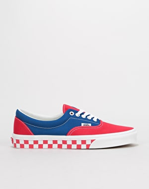 Vans Era Skate Shoes - (BMX Checkerboard) True Blue/Red