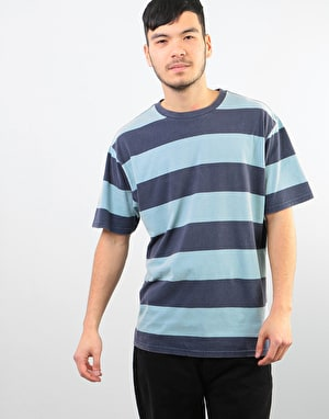 Brixton Corwin Washed T-Shirt - Navy/Smoke Blue