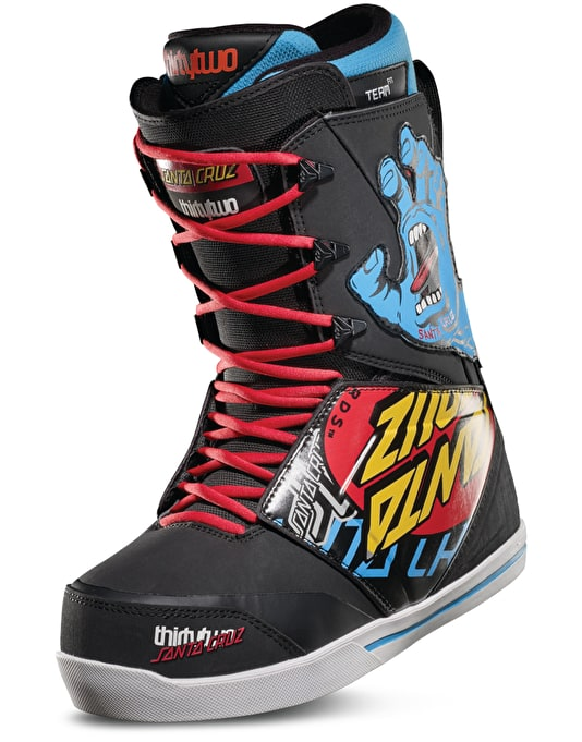 ThirtyTwo x Santa Cruz Lashed 2019 Snowboard Boots - Black/Print