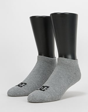 DC Ankle Socks 3 Pack - Heather Grey
