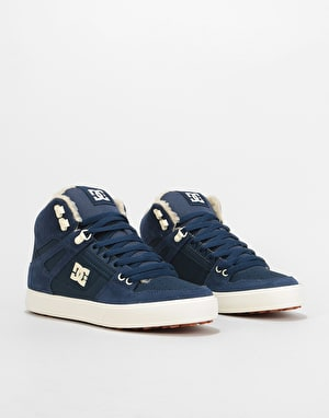 DC Pure HT WC WNT Skate Shoes - Navy/Khaki