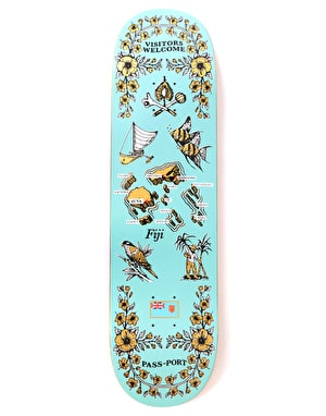 Pass Port Fiji International Tea Towels Skateboard Deck - 8.38