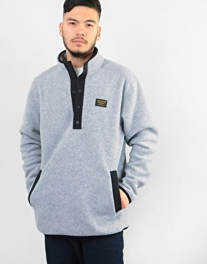 Burton Hearth Fleece Pullover Sweatshirt - Grey Heather