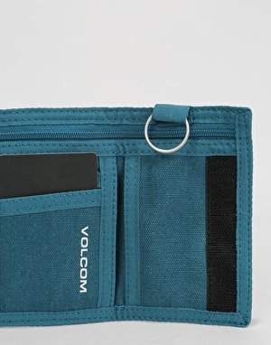 Volcom Full Stone Cloth Wallet - Navy