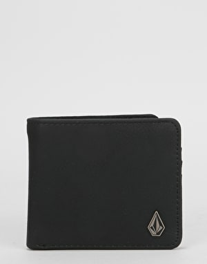 Volcom Slim Stone PU Wallet - Black