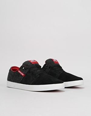 Supra Stacks II Skate Shoes - Black/Bossa Nova/White