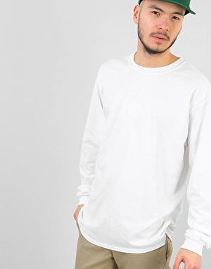 The National Skateboard Co. Classic L/S T-Shirt - White