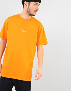 Butter Goods Classic Micro Logo T-Shirt - Orange