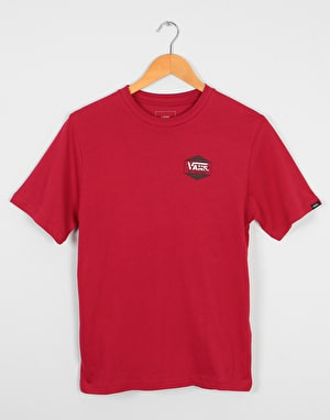 Vans Complete Lock Up Boys T-Shirt - Cardinal