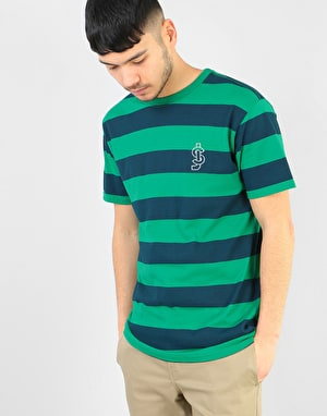 Shake Junt Freddy Striped T-Shirt - Blue/Green