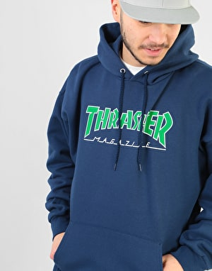 Thrasher Outlined Pullover Hoodie - Navy