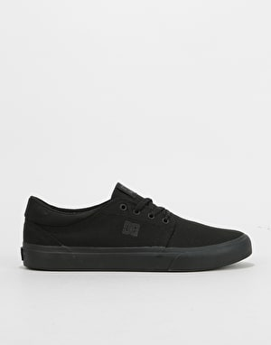DC Trase TX Skate Shoes - Black/Black/Black