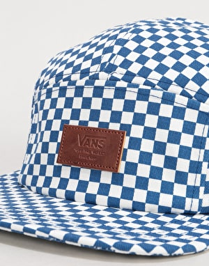 Vans Davis 5 Panel Cap - True Blue/White Check