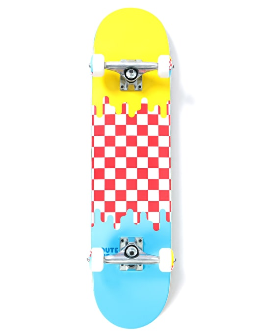 Route One Check Drip Complete Skateboard - 7.5""