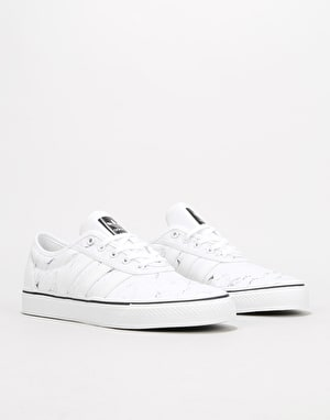 Adidas Adi-Ease Skate Shoes - White/White/Core Black