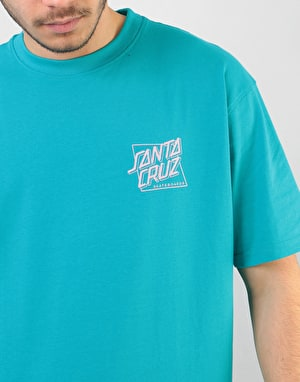 Santa Cruz SC Squared T-Shirt - Lake Blue