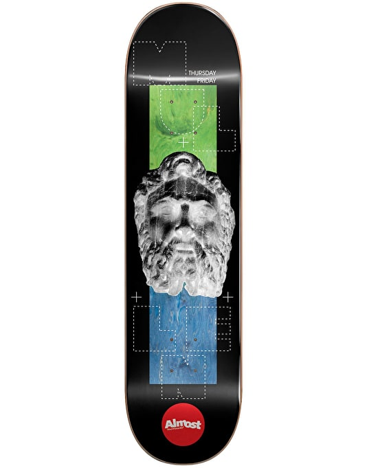 Almost Mullen Stone Head Invert Impact Light Skateboard Deck - 8.25""