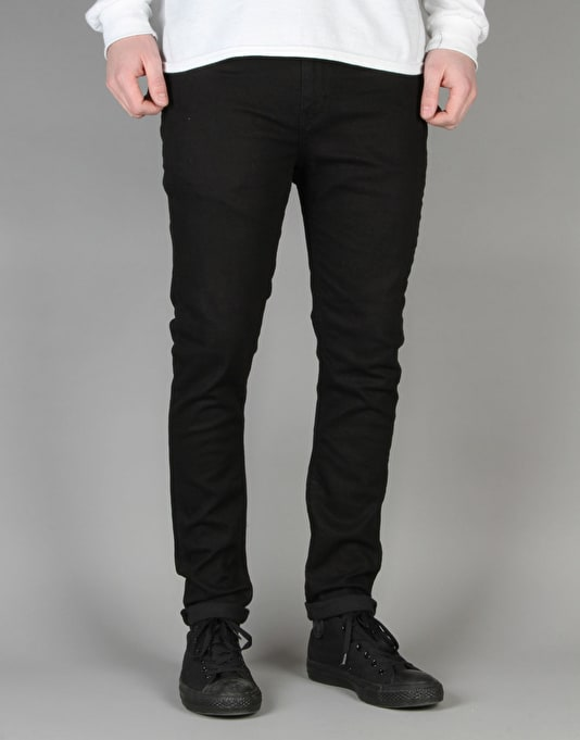 Route One Super Skinny Denim Jeans - New Black