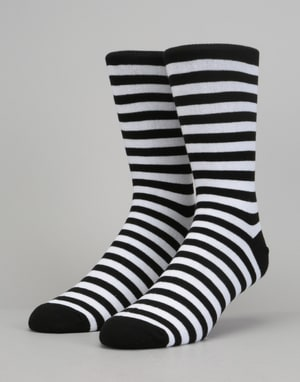 Route One Stripe Socks - Black/White