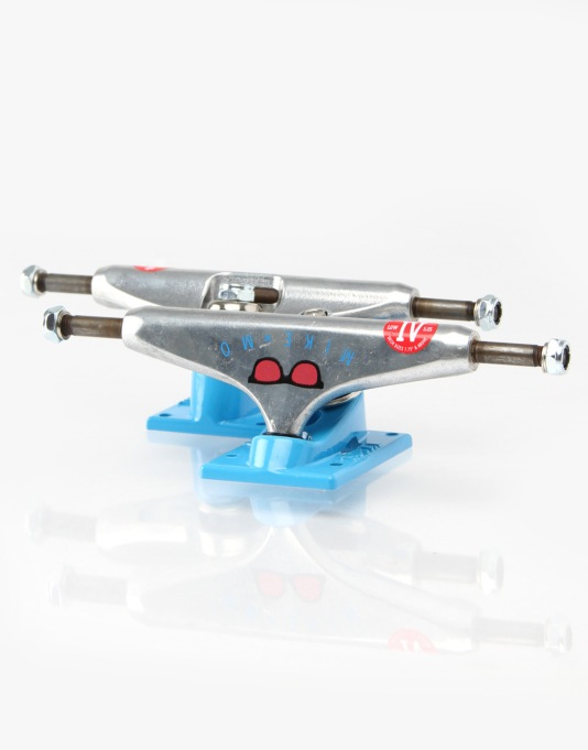 Royal Mike Mo Icon Four 5.25 Low Trucks - Silver/Blue