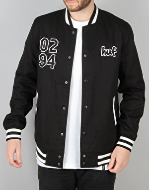 HUF x Chocolate Chunk Varsity Jacket - Black/White